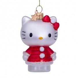 Kerstbal Hello Kitty in Kerst Jurk