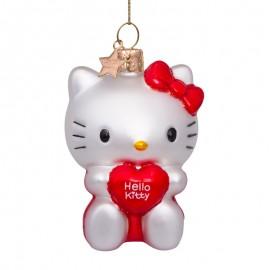 Kerstbal Hello Kitty met Hart