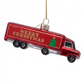 Kerstbal Vrachtwagen Merry Christmas