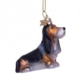 Kerstbal Basset Hond