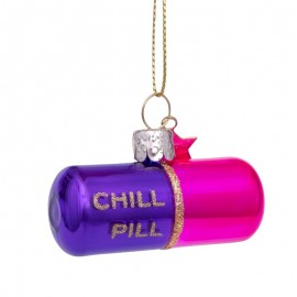 Kerstbal Chill Pil Paars-roze