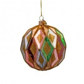 Kerstbal Multicolor Honingraad