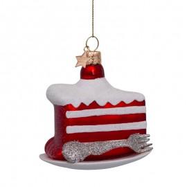 Kerstbal Red Velvet Cake op Schotel