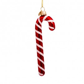 Kerstbal Zuurstok Rood-Wit