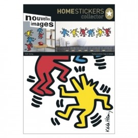Muursticker Keith Haring Dancing Dogs