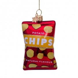 Kerstbal Zakje Chips