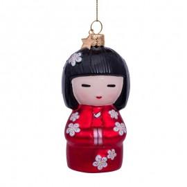 Kerstbal Dame in Kimono