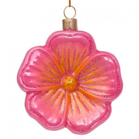 Kerstbal Bloem Zacht-roze