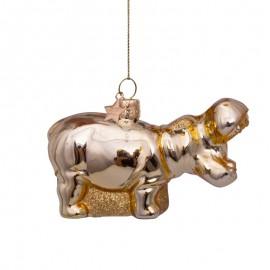 Kerstbal Nijlpaard Goud