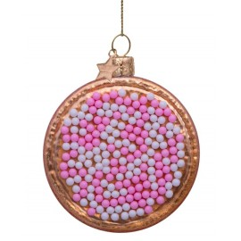 Kerstbal Beschuit met Muisjes Roze-Wit