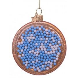 Kerstbal Beschuit met Muisjes Blauw-Wit