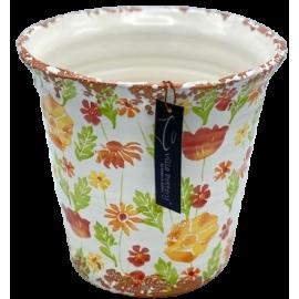 Bloempot Flowergarden 1-1 Oranje Multi