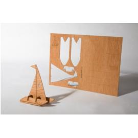 Houten kaart Catamaran