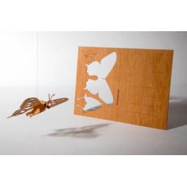 Houten kaart Vlinder