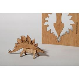Houten kaart Stegosaurus