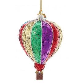 Kerstbal Luchtballon Multicolor