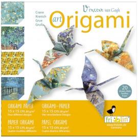 Art  Origami Kraanvogel Vincent van Gogh