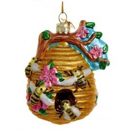 Kerstbal Bijenkorf met Boemen en Bijen