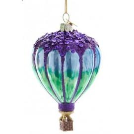 Kerstbal Hete Luchtballon Paars-blauw