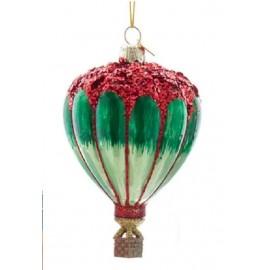 Kerstbal Hete Luchtballon Rood-groen