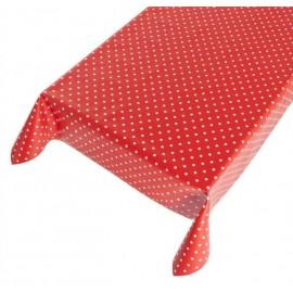 Tafelzeil  Rood met Witte Stippen