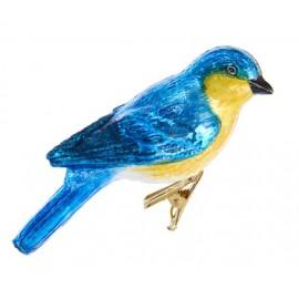 Kerstbal Bluebird op Clip