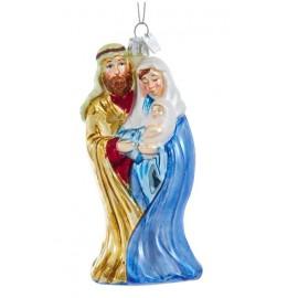 Kerstbal Jozef Maria en Jezus