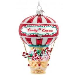 Kerstbal Hete Luchtballon Gevuld met Snoep