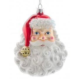 Kerstbal Hoofd Kerstman
