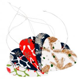 Papieren Kerstversiering Hangend Hart