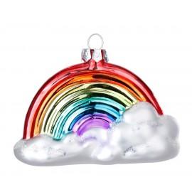 Kerstbal Regenboog in de Wolken