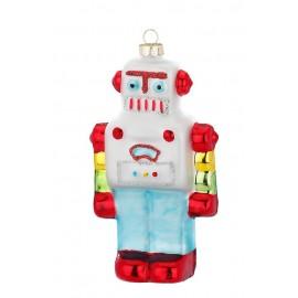 Kerstbal Robot Multicolor 1