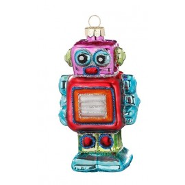 Kerstbal Robot Multicolor 2