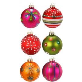 Set van 6 Kerstballen Multicolor Bont 2