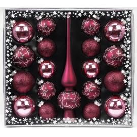 Kerstballen Set 19 Delig met Piek Berry Kiss