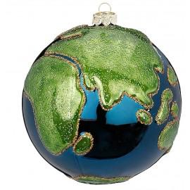 Kerstbal Wereldbol Blauw-groen
