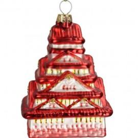 Kerstbal Pagoda Rood