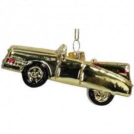 Kerstbal  Oldtimer Cadillac Goud