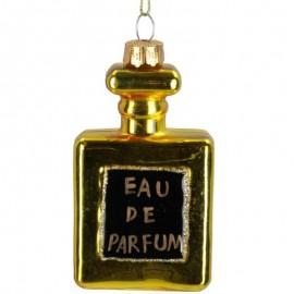 Kerstbal Flesje Parfum Goud