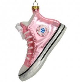 Kerstbal Sneaker Roze