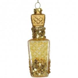 Kerstbal Parfumflesje Goud