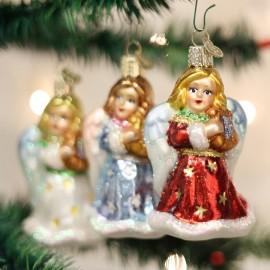 Kerstbal Engel met Lier