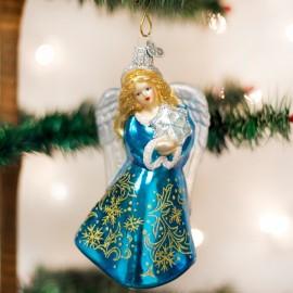 Kerstbal Engel met Sneeuwvlok