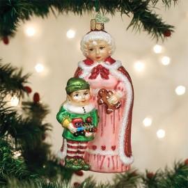 Kerstbal Kerstvrouw met Elf
