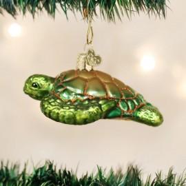 Kerstbal Zeeschildpad Groen