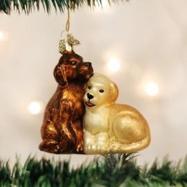 Kerstbal Puppy Liefde