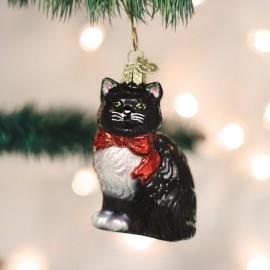 Kerstbal Kat met Strik