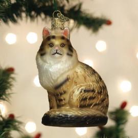 Kerstbal Maine Coon Kat