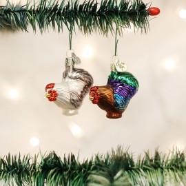 Kerstbal Mini Haan