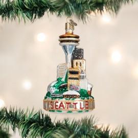 Kerstbal Seattle Skyline